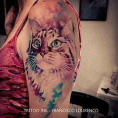 Totally cute cat tattoo ideas for women - VIs-Wed Tattoo Henna, Airbrush Tattoo, Tattoo On, Cover Tattoo, Kitten Tattoo, Cute Cat Tattoo, Unique Tattoos, Beautiful Tattoos, Cool Tattoos