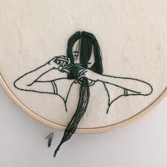 Snip. #handembroidery #embroideryart #embroideryhoop #embroidery