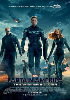 Captain America: The Winter Soldier poster - What even is Natasha doing!? Just... how DARE Marvel make her look that weak!! She doesn't even look strong and brave LIKE SHE REALLY IS! COME ON, MARVEL! GET IT RIGHT!