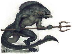 Sahuagin, criatura para Aventuras en la Marca del Este. Víctor Guerra (victorguerr.blogspot.com)