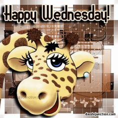 Browse Giraffe pictures, photos, images, GIFs, and videos on Photobucket Wednesday Morning Images, Happy Wednesday Pictures, Wednesday Hump Day, Happy Wednesday Quotes, Morning Pics, Wednesday Greetings, Wednesday Wishes, Blessed Wednesday, Wonderful Wednesday