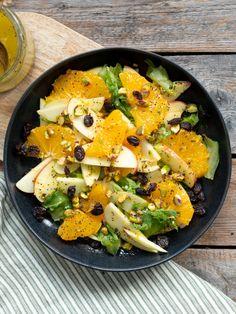 Eplesalat med appelsindressing - Kvardagsmat