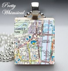 Scrabble Tile Jewelry London Map Pendant ♥ too cute!