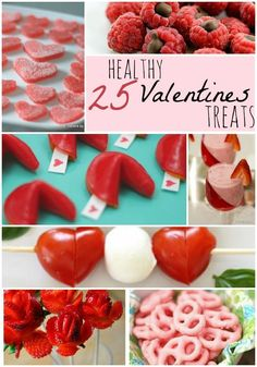I like to make sure the kiddos don't eat ONLY candy for holidays. That's why I'm going to make one of these 25 Healthy Valentines Treats for their parties!