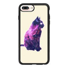 iPhone 7 Plus/7/6 Plus/6/5/5s/5c Case - Whimsical Purple Nebula Cat... ($40) ❤ liked on Polyvore featuring accessories, tech accessories and iphone grip case