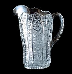 Excited to share the latest addition to my #etsy shop: Imperial Glass Pitcher, Daisy and Clear Button, Crystal Water Pitcher, Pressed Glass Pitcher, Heavy Glass Pitcher, Mid Century Glassware https://etsy.me/2I5g1PI #housewares #clear #glass #imperialglassco #clearglas
