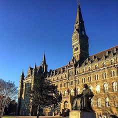 Georgetown University #goviewyou Washington Dc Travel, Georgetown University, Dream School, Law School, Barcelona Cathedral, Colleges, History, City, Schools
