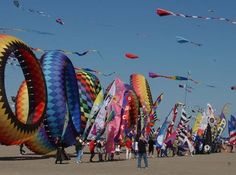 The Washington State International Kite Festival is the largest kite festival in the United States.