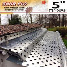 "5"" Shur Flo Gutter Leaf Guard.   200 Feet   Mill Aluminum – TMS Hardware"