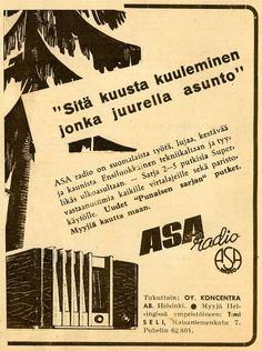 Finland - Asa Radio advertisement from the inter-war years.