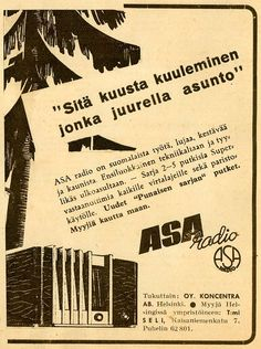 Finland - Asa Radio advertisement from the inter-war years.