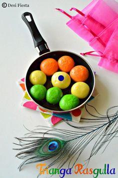 Desi Fiesta : Tri color Rasgulla Recipe |Trianga Rasgulla  |Colo...