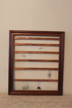 Reclaimed Barn Wood Necklace Holder Wall Hanging Jewelry Organizer