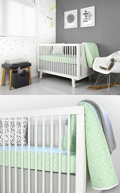 pretty grey and lime nursery -- olli&lime