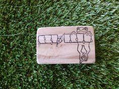 消しゴムはんこです6x9の木材持ち手つきシンプルな封筒のワンポイントにいかがですか♪|ハンドメイド、手作り、手仕事品の通販・販売・購入ならCreema。
