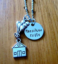 UP Inspired Necklace. Paradise Falls house with by WithLoveFromOC