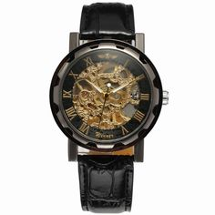 Winner Luxury Brand Men Mechanical Skeleton Leather Strap Self-Wind Watch-Forsining Watch Company Limited www.forsining.com