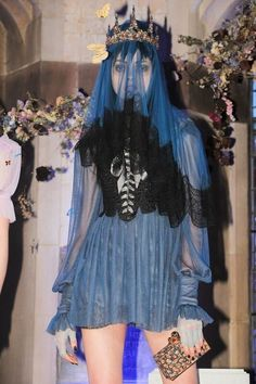 The Meadham Kirchhoff designer is back, creating garments for Sophia Webster's presentation.