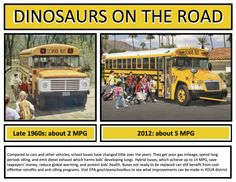 Dinosaurs on the road- school buses then and now