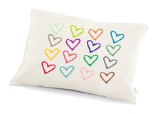 Love pillow valentine's day decorative pillow  Hearts by Tulito