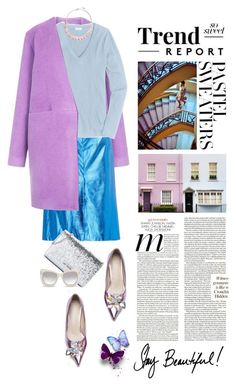 """""""So Sweet: Pastel Sweaters"""" by shortyluv718 ❤ liked on Polyvore featuring TIBI, J.Crew, WALL, Antica Murrina, Love Moschino, Le Specs Luxe, contestentry and pastelsweaters"""