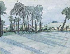 """Spring Landscape"" by John Nash Landscape Sketch, Spring Landscape, Landscape Artwork, John Nash, English Artists, British Artists, Amazing Drawings, Land Scape, Images"