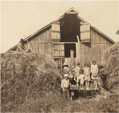 vintage farm kid photo  farmers kids sitting by vintagewarehouse, $3.00