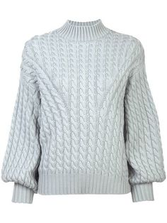 23d96c34301 Zimmermann Tempest Cable Sweater - grey Cable Sweater