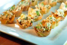... wedding curried chicken salads salad cups appetizers salad wonton