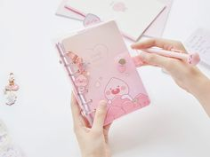 Please check out daily Kakao Friends items in online store. Bullet Journal Banner, Bullet Journal Notes, Bullet Journal Aesthetic, Bullet Journal Ideas Pages, Apeach Kakao, Cute Diary, Cute Stationery, Stationary, Planners
