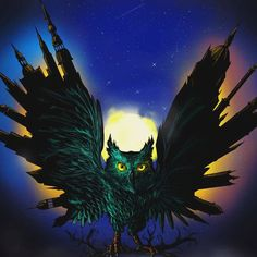 """ezzel a rajzzal szeretnék nevezni #azejszakamanappalod  #bagoly#drawing#photoshop#art#owl#city#night#likeforlike#nightowl#midnight"""