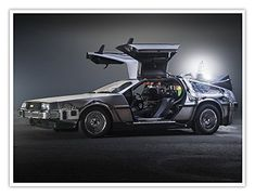 26 years ago, Marty McFly and Doc Brown climbed into their time-traveling flying DeLorean and set the controls to the distant future — October 2015 — which happens to be this. Doc Brown, The Future Movie, Back To The Future, Future Car, Dmc Delorean, Delorean Time Machine, Maserati Ghibli, Marty Mcfly, History Channel