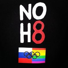 NO H8 Campaign - Showing our support & solidarity for the brave #LGBT community in Russia. #NOH8WorldWide! - See more: https://www.facebook.com/photo.php?fbid=10151785964977838=a.113292212837.98471.88890737837=1=1