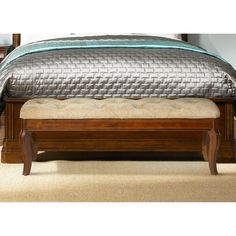Liberty Furniture Alexandria Bed Bench - Autumn Brown - 722-BR47