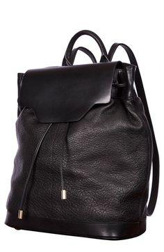 Furla Black Pebbled Leather 'Taormina' Shoulder Bag 33