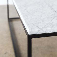 Detail of the Hannah marble coffee table from our Design Kiosk collection is beautifully simple and clean. Marble Furniture, Modern Furniture, Furniture Design, Marble Top, White Marble, Corporate Interiors, Kiosk, Minimal Design, Simple Designs