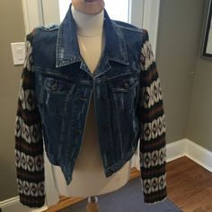 Gorgeous Free People Jean Jacket! In excellent condition.  This is a very cool jacket for spring. Free People Jackets & Coats Jean Jackets