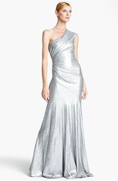 Wow I love this dress! Donna Karan Collection One Shoulder Sequin Gown available at #Nordstrom