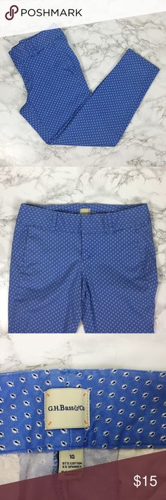 Blue Bass Pants Blue pants with leaf pattern. Has some stretch. Skinny leg. ★ additional measurements available upon request ★ reasonable offers considered ★ no trades Bass Pants
