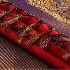 Red with golden is this combination which never fails to impress. The floral golden motif and pure jari gives it an elegant look. Make a fashionable entrance with the ultra- chic red #kanchipuram #silksaree.  #red #silksaree #sareeinspiration #pothys #ethnicsaree #silkblouse #sareeblouse #redkanchipuramsaree #Pattusaree