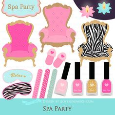 Spa / Spa Party / Spa Day / Spa Chair / Spa by GraphicDesignByMia