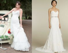 """Rosalee Calvert (Bree Turner) wears a Fox Gown Lace Strapless Sweetheart Wedding Dress with Elongated Bodice and Scalloped Tier Skirt in the color Ivory in Grimm Season 3 Episode 22 """"Blonde Ambittion."""" *Note* Rosalee's Dress is worn without the satin ribbon belt. #grimm #rosalee #nbc Sweetheart Wedding Dress, One Shoulder Wedding Dress, Rosalee Calvert, Bree Turner, Dress Hairstyles, Tie Shoes, I Got Married, Grimm Season, Season 3"""