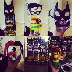 Vasos decorados Batman