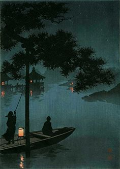 "Japanese Art Print ""Lake Biwa"" by Koho Shoda. Shin Hanga and Art Reproductions http://www.amazon.com/dp/B00XXKIJI4/ref=cm_sw_r_pi_dp_jdxswb0YVVGVN"