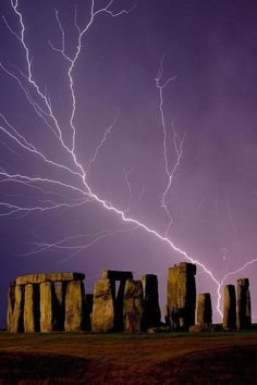 Stonehenge Lightning  Not quite Scotland, but very cool!