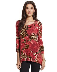 Shannon Leopard Scroll Top