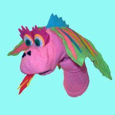 dragon sock puppet