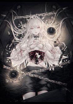 Manga Girl, Anime Art Girl, Anime Boys, Manga Anime, Gothic Anime Girl, Anime Demon, Anime Fantasy, Fantasy Kunst, Fantasy Art