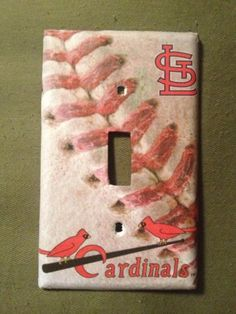 St Louis Cardinals Baseball Light Switch Cover