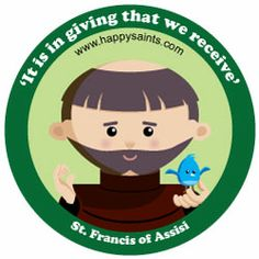 St. Francis (This is from a cute website with lots of illustrations of saints that kids will appreciate).